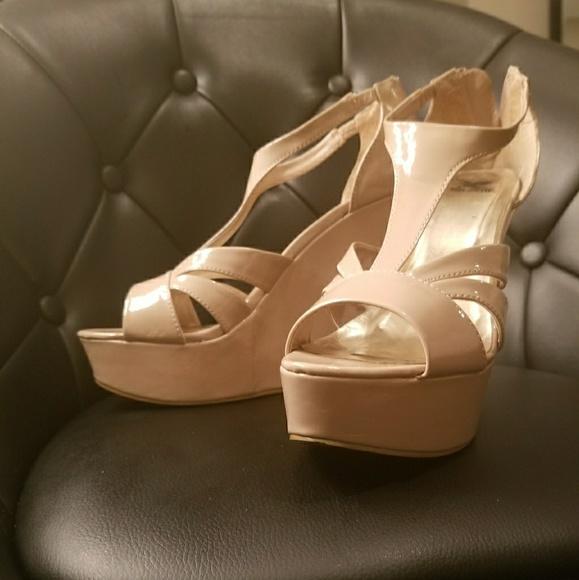 b907b2a4945 Shiek Nude Wedge Heels. M 5a051b8dfbf6f93c8301705a