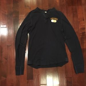 Men's Abercrombie & Fitch Long Sleeve Henley Shirt