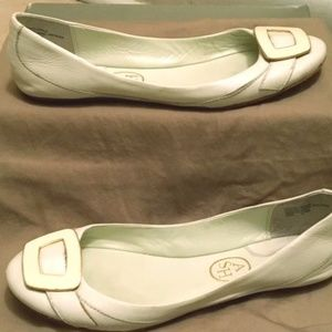 Ash White Leather Ballerina Flats Size 8 (Euro 38)