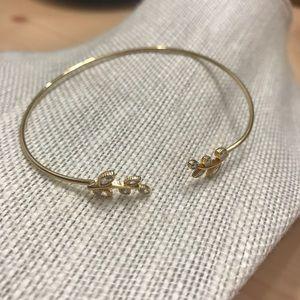Anthropologie Gold Leaf Bracelet