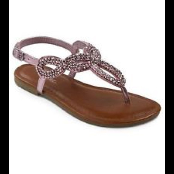 Cherokee Other - Girls pink beaded sandals