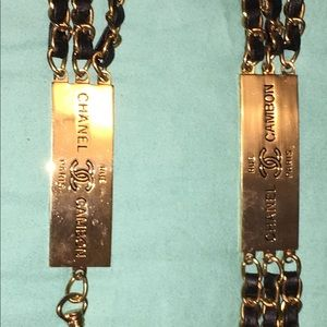 Vintage Chanel Cambon Rue Paris Chain Belt