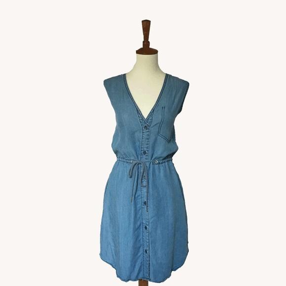 Anthropologie Dresses - Chambray Heart Dress