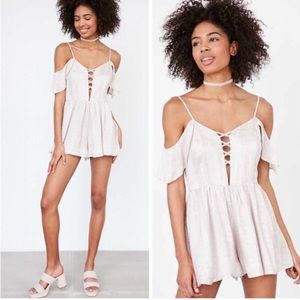 NWT Urban Outfitters Off Shoulder Romper