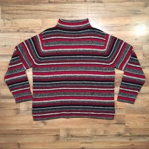 Valerie Stevens striped wool Christmas sweater, L