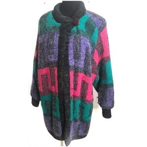 Vintage 80's coat jacket sweater