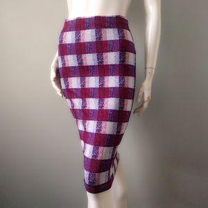 65c960f13510 Topshop Skirts   Tartan Plaid Pencil Tube Skirt 38 6 Vday   Poshmark