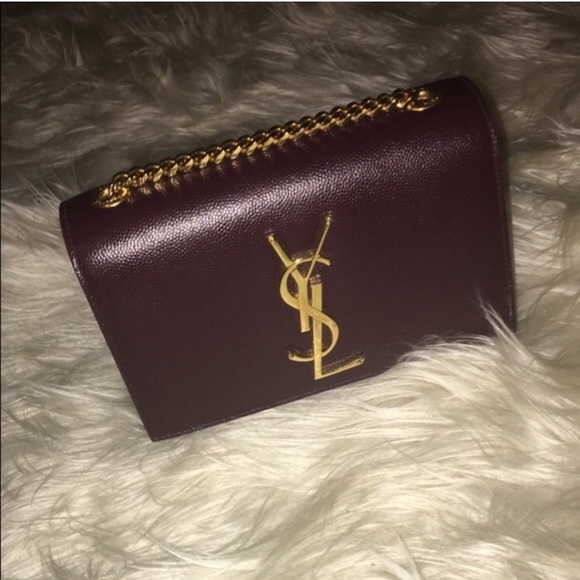 Saint Laurent Burgundy Small Monogram Kate Bag. M 5a0528955c12f8af3c06533a c3793f2afbd5e
