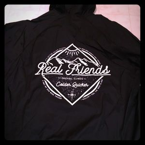 Real Friends Band Jackets Coats Brand New Real Friends Rain