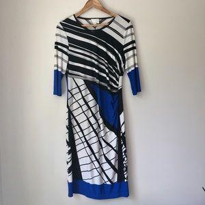 Donna Morgan Dresses - Donna Morgan Graphic Print Stretch Dress