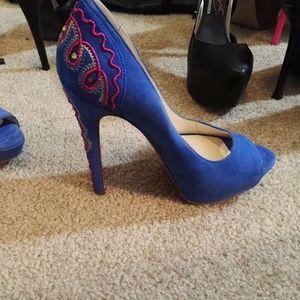 boutique 9 leather high heels platform shoes, new