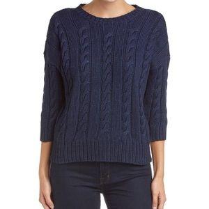 Three Dots chunky knit cotton sweater