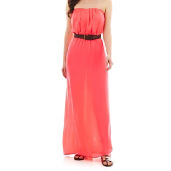 7c6e2ecbc4f City Triangles Dresses   Skirts - City Triangles Coral Sleevless Cute Maxi  Dress
