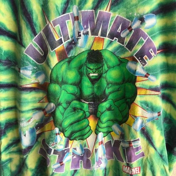 Vintage Shirts - Vintage Incredible Hulk tie dye tee