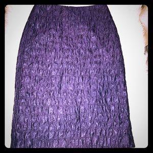 Adolfo Domínguez eggplant skirt