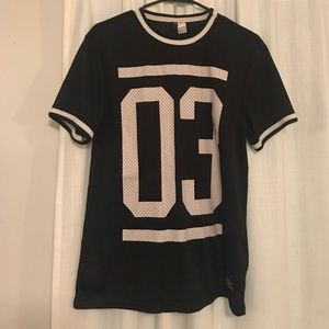 Divided, H&M black and white jersey, size S