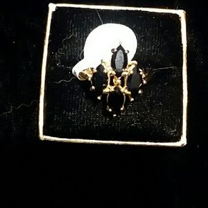 Ginuwine 4 stone black onyx ring - 18k god plate