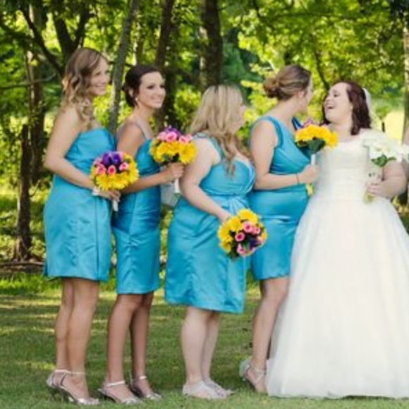 Malibu Blue Bridesmaids Dress