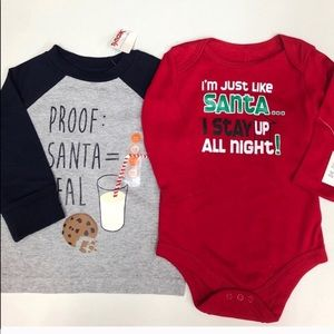 NWT Christmas T-shirt and Onesie