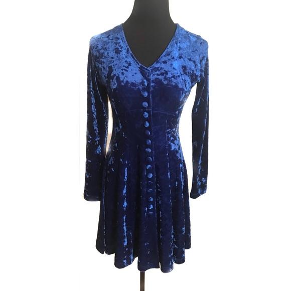Vintage Dresses - Vintage 90's velvet baby doll dress