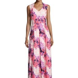 Tahari ASL Maxi Dress size 12. NWT Floral-Print