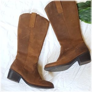 B .O.C. Leather Western Riding Boots