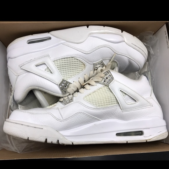 promo code 2ebc3 2f74d Jordan 4 retros all white 4's Jordans