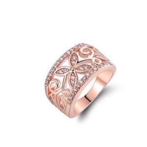 Rose Gold Floral Filigree Ring
