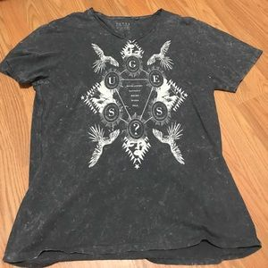 Men's guess distressed tee X-Large