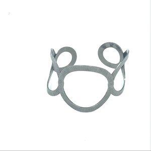 Jewelry - Silver tone cuff bracelet circular design