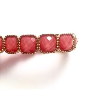 Jewelry - Pink and gold gem bracelet with elastic band