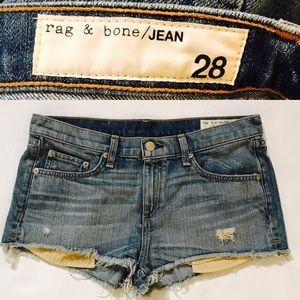 Rag & Bone Cut Off Jeans Denim Shorts Size 28