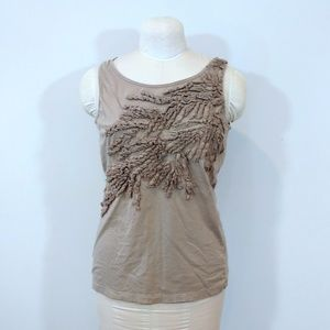 Caslon Fitted Tee Tan Tank Top