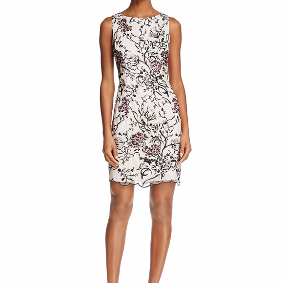 3cac9f2bd33c8f Aidan Mattox Sleeveless Lace Embroidered Dress