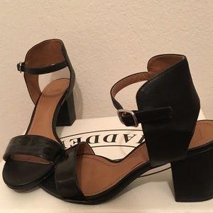 Black low heel with chunky heel