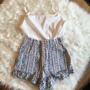 Vintage Newport Floral High Waisted Shorts