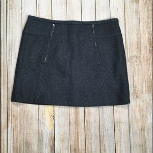 Vintage Kenar wool mini skirt with zipper detail
