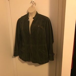 Soft Olive green coat size w18 by Coldwater Creek