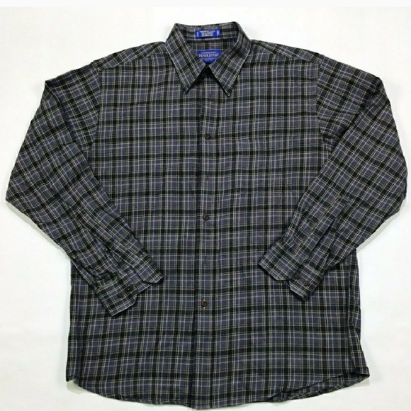 Pendleton Flannel Wool Flannel Button Up Shirt Red 7AiUO1u5