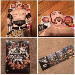 Other - WWE wrestling buddies and wrestlemania DVD