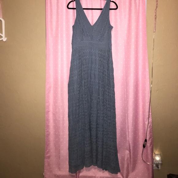 31984cd0264b H&M Dresses | Hm Dusty Blue Lace Dress | Poshmark