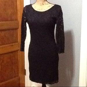 Forever 21 black lace dress.