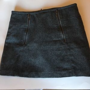 Wool blend grey mini skirt 6