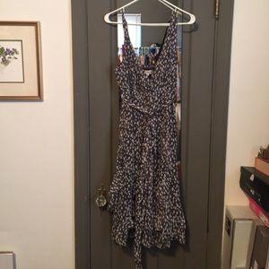 Grey and White polka dot dress