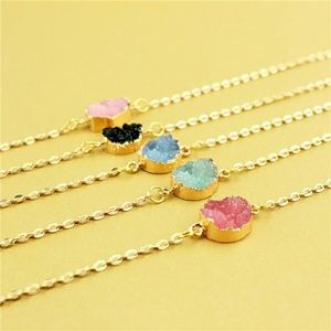 Jewelry - Rose Red Druzy Crystal Stone Necklace