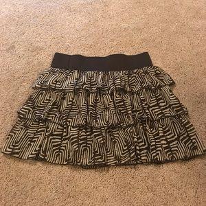Adorable brown tribal print skirt!