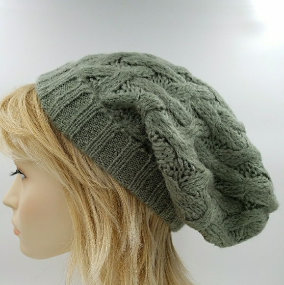 3325cb6e8ef Warm Cable Knit Slouch Beanies