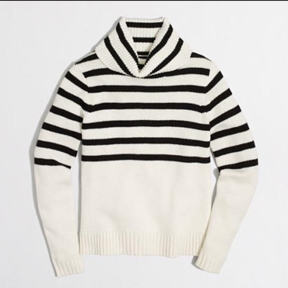 b5b2b809493 🆕J. Crew Factory Striped Turtleneck Sweater