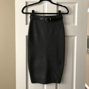 New Look sweater pencil skirt with belt