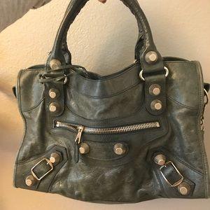 Genuine Balenciaga City bag 21 w/ silver hardware